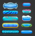 Set of blue button for game design vector image