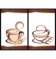 Set of coffee backgrounds vector image vector image