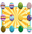 Set of easter eggs on background2 vector image vector image