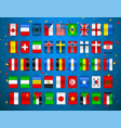 set of flags of world sovereign states colorful vector image vector image