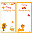 set of thanksgiving templates vector image vector image