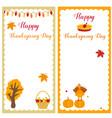 set thanksgiving templates vector image vector image