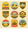 set vintage camping logos vector image vector image