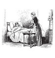 sick man vintage vector image vector image