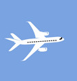 simple drawing a commercial jet vector image vector image