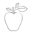 sketch blurred silhouette image apple fruit with vector image vector image