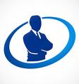 success businessman abstract logo vector image vector image