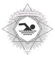swim icon symbol symbol vector image vector image