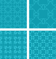 Teal seamless pattern background set vector image vector image
