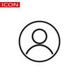 user account circular line icon round simple vector image vector image