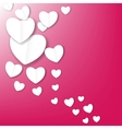 Valentines day paper heart backgroung vector image vector image