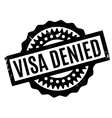 Visa Denied rubber stamp vector image vector image