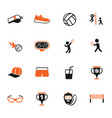 volleyball icon set vector image vector image