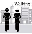 Walking design vector image