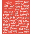 White hand lettering set of words for fast food vector image vector image