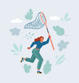 woman run with an empty vector image vector image
