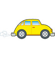 yellow car icon on white background vector image vector image