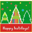 Christmas tree card New Year forest Beautiful vector image
