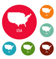 usa map in black simple vector image