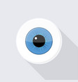 human eyeball eye with bright blue vector image