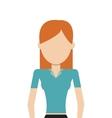 faceless woman icon vector image