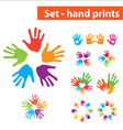 set palms vector image