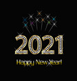 2021 happy new year gold background vector image vector image