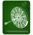 3d model of darts on a green vector image