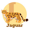 abc cartoon jaguar vector image vector image
