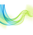 abstract background with blue and green vector image vector image