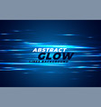 abstract blue light effect glows background vector image vector image