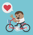 african businessman cycling show hand symbol vector image vector image