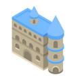aquarium castle icon isometric style vector image