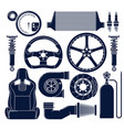 auto parts icons vector image