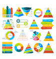 big collection of infographic elements pie vector image