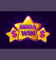 big win banner background for online casino poker vector image vector image