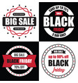 black friday banner sale best template for your vector image