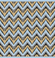 boho zig zag strip blue seamless pattern vector image vector image