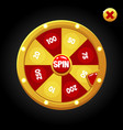 bright spin wheel for playing with numbers vector image