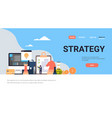 business people brainstorming strategy concept vector image vector image