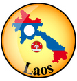 button Laos vector image vector image