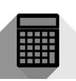 calculator simple sign black icon with vector image vector image