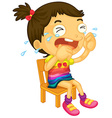 Crying girl vector image vector image
