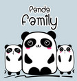 cute cartoon panda family background vector image vector image