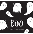 cute halloween ghosts card vector image vector image