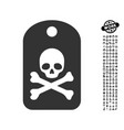 death sticker icon with work bonus vector image vector image