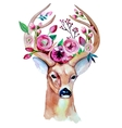 deer watercolor save date eps 10 wedding vector image vector image