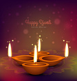 diwali diya place on colorful background design vector image vector image