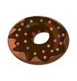 Donut icon cartoon style vector image
