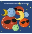 Educationalgame how many planets do you see vector image vector image